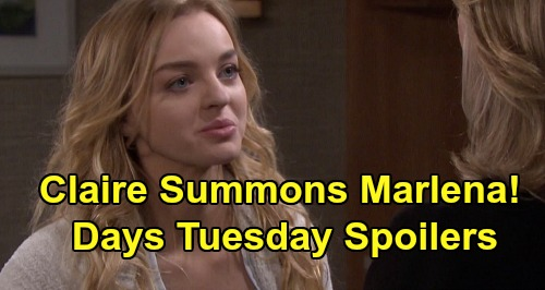 Days of Our Lives Spoilers: Tuesday, June 2 – Jake's Big Confession to Ben – Claire Calls Marlena to Bayview – John Suspects Brady
