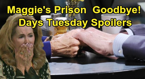 Days of Our Lives Spoilers: Tuesday, March 24 – Maggie's Prison Goodbye – Ben Release Thrills Ciara – Nicole's DNA Test Results