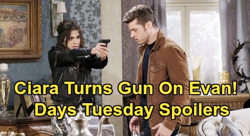 Days of Our Lives Spoilers: Tuesday, March 3 – Xander Runs Into Baby Swap Doctor – Ciara Turns Gun on Evan – Kristen Blasts Gabi