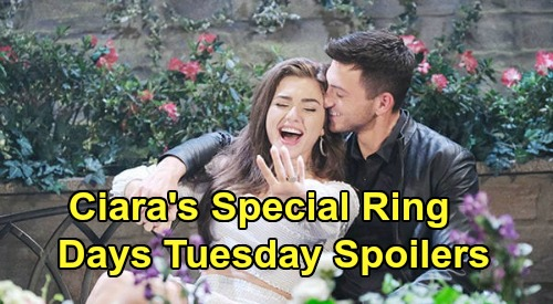 Days of Our Lives Spoilers: Tuesday, May 12 – Brady's Goodbye to Kristen & Rachel – Ciara's Special Engagement Ring