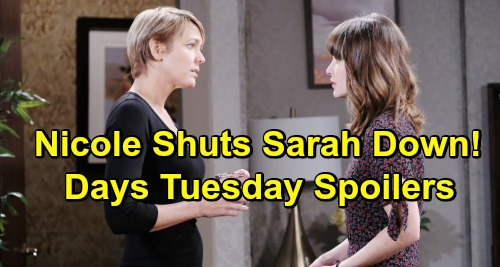 Days of Our Lives Spoilers: Tuesday, May 14 – Xander Scores a Big Win – Fake Nicole Shuts Sarah Down – Rex Consoles Chloe