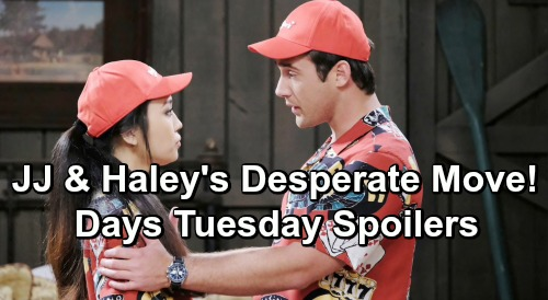 Days of Our Lives Spoilers: Tuesday, May 21 – Jack Drops a Bomb – Eve Faces Claire's Wrath – Desperate Haley and JJ Seek Help