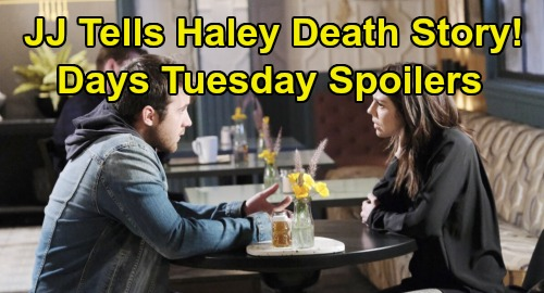 Days of Our Lives Spoilers: Tuesday, November 26 – JJ Opens Up About Haley's Death – Eric's Ready for War – Lani Confesses to Kristen