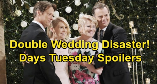 Days of Our Lives Spoilers: Tuesday, November 5 – Jennifer's Horrific Fall, Double Wedding Disaster – Princess Gina to Blame