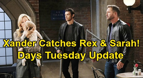 Days of Our Lives Spoilers: Tuesday, May 12 Update – Kristen Must Run with Rachel – Xander Catches Rex & Sarah – Sonny Sobs Over Adrienne