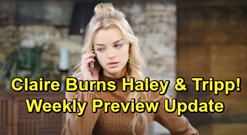 Days of Our Lives Spoilers: Weekly Preview Update – Vengeful Claire Torches The Cabin - Tripp & Haley Trapped Inside