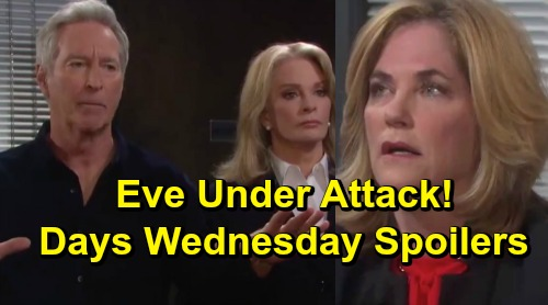 Days of Our Lives Spoilers: Wednesday, July 3 – Belle Back to Support Claire – Eric's Stunning Discovery – Eve Faces Fierce Backlash