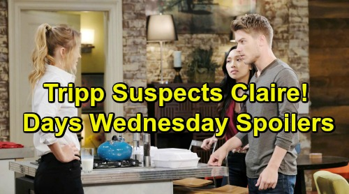 Days of Our Lives Spoilers: Wednesday, March 13 – Suspicious Tripp Confronts Claire – Leo Drops Brother Bomb on Brady