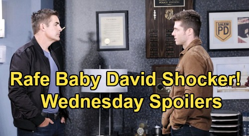 Days of Our Lives Spoilers: Wednesday, March 18 – Clyde Explains Jordan's Murder – Rafe Corners Evan, Gets Baby David Shocker