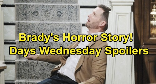 Days of Our Lives Spoilers: Wednesday, November 13 – Brady's Horrific Flashbacks – Chad's Huge Stefano Confession – Eric Spots High JJ