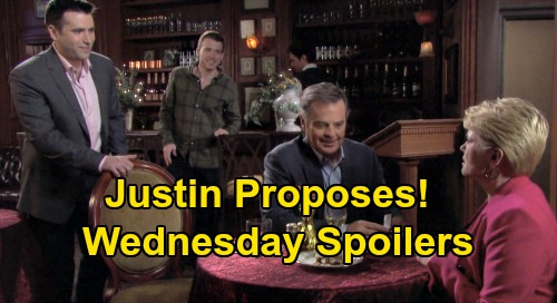 Days of Our Lives Spoilers: Wednesday, October 23 – Justin Proposes to Adrienne – Victor Infuriates Kate – Gabi's Cruel Payback