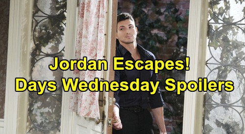 Days of Our Lives Spoilers: Wednesday, October 30 – Jordan Escapes, Ben Saves David – Lani Fails to Outwit Gabi