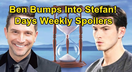 Days of Our Lives Spoilers: Week of April 20-24 – Stefan Meets Ben – Sonny Finds Stabbed Victor – Li Shin Arrives in Salem