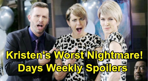 Days of Our Lives Spoilers: Week of August 19 – Kristen's Worst Nightmare - Steamy Stabi Captives – Eric's Crushing Blow