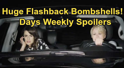 Days of Our Lives Spoilers: Week of January 20 – Huge Flashback Bombshells – Tragic Car Crash, Baby Swap and Stunning Betrayals