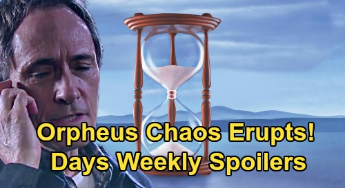 Days of Our Lives Spoilers: Week of March 16 – Orpheus Chaos Erupts – Xander Asks Sarah to Be His Wife – Stefano's Family Reunion