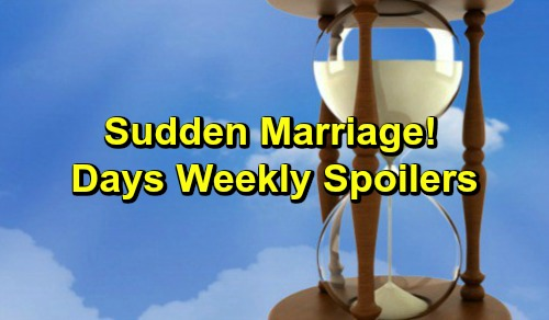 Days of Our Lives Spoilers: Week of March 18-22 – Life-and-Death Battle, Incriminating Evidence and a Sudden Marriage
