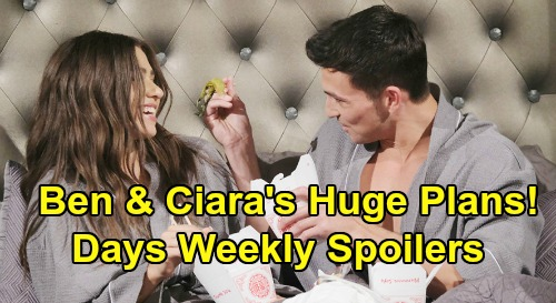 Days of Our Lives Spoilers: Week of March 30 – Ben & Ciara Huge Plans - Brady's Mickey Shocker – Sheila Stirs Up Lani & Eli Trouble
