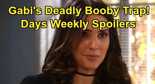 Days of Our Lives Spoilers: Week of October 28 – Lani & Eli's Doomed Wedding – Gabi's Deadly Booby Trap – Xander Meets Princess Gina
