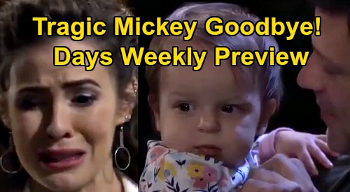 Days of Our Lives Spoilers: Week of April 6 Preview - Sarah's Wedding Breakdown - Eric Punches Xander - Heartbreaking Mickey Goodbye