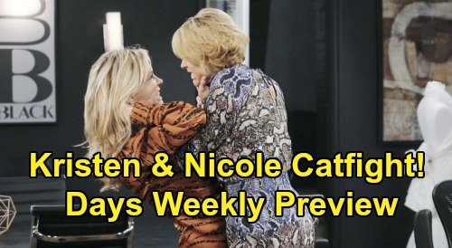 Days of Our Lives Spoilers: Week of March 16 Preview - Orpheus Is Back - Kristen & Nicole's Catfight - Marlena Swoons For Stefano