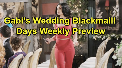 Days of Our Lives Spoilers: Week of October 28 Preview - Gabi Controls Pacemaker - Will Lani Dump Eli At Wedding To Save Julie?