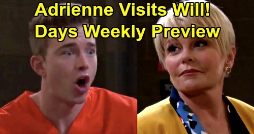 Days of Our Lives Spoilers: Week of January 13 Preview - 'Adrienne' Visits Will - Eli Proposes To Gabi, JJ Forbids It - Brady & Nicole Hookup