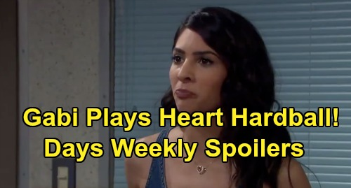 Days of Our Lives Spoilers: Week of October 7 Preview - Gabi Makes Julie's Family Beg For Hubby's Heart - Tearful Stefan Goodbye