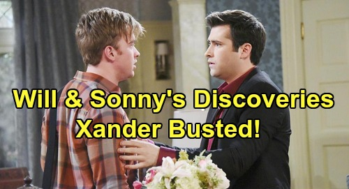 Days of Our Lives Spoilers: Xander's Secrets in Jeopardy – Will and Sonny Discover Shocking 'Nicole' and Kristen Clues
