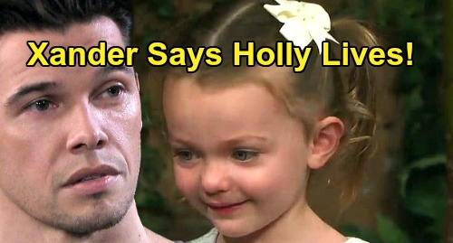 Days of Our Lives Spoilers: Xander Comes Clean About Holly Being Alive - Abducted Child's Whereabouts Unknown