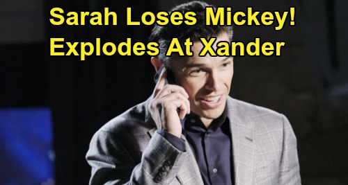 Days of Our Lives Spoilers: Sarah Explodes Over Xander's Baby Lies – Losing Mickey Brings Tough 'Xarah' Setback