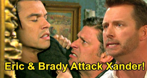 Days of Our Lives Spoilers: Brady & Eric Attack Xander Over Mickey Lie - Brothers' Baby Swap Rage Explodes