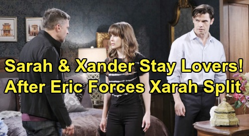 Days of Our Lives Spoilers: Xander Remains Sarah's Secret Lover - After Eric Forces 'Xarah' Split?