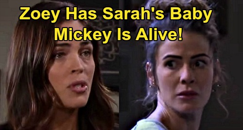 Days of Our Lives Spoilers: Mickey's Alive - Zoey's Dead Baby Swapped for Sarah's Living One – Orpheus & Evan Switch Shocker?