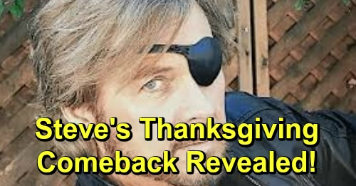Days of Our Lives Spoilers: Steve's Thanksgiving Comeback Revealed – 'Patch' Returns for Salem Holiday Surprises
