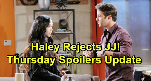 Days of Our Lives Spoilers: Thursday, March 21 – Haley Rejects JJ, Plans to Marry Tripp Instead – Rafe's Big Surprise for Hope