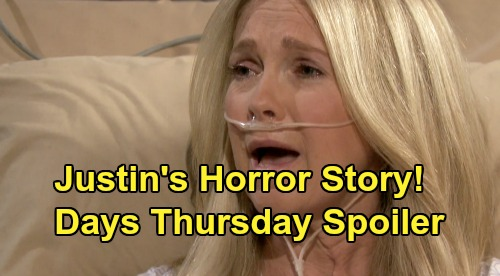 Days of Our Lives Spoilers: Thursday, November 21 – Justin Tells Jennifer Heartbreaking Adrienne Story – Xander Caves to Clyde's Pressure