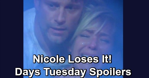Days of Our Lives Spoilers: Tuesday, May 7 – Nicole Loses It Over Holly's Death in Van Explosion – Ted and Xander's Plan Works