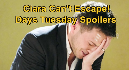 Days of Our Lives Spoilers: Tuesday, August 25 – Ben Stops Ciara's Escape – Eduardo Shocks Rafe – Paige Guides Eve