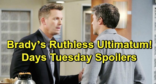 Days of Our Lives Spoilers: Tuesday, March 26 – Will Faces Leo's Dangerous Curse – Brady's Ruthless Ultimatum – Cin Gets Steamy