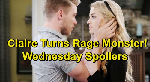 Days of Our Lives Spoilers: Wednesday, May 1 – Jack Drops Dirty Debate Bomb – Claire Explodes, Turns Into Rage Monster