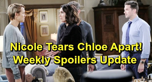 Days of Our Lives Spoilers: Week of April 29 Update - Nicole Blasts Chloe - Xander & Ted Cause Holly Tragedy - Valerie Returns
