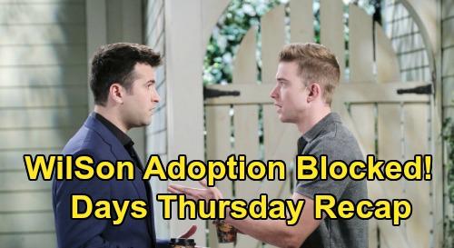 Days of Our Lives Spoilers: Thursday, June 11 Recap - Will & Sonny Adoption Blocked - Kate & Lucas Track Allie - Cops On Gabi's Case