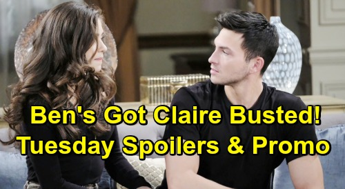 Days of Our Lives Spoilers: Tuesday, June 4 – Claire's Ringtone Confirms Truth to Ben – Marlena's Crushing News – Jack's Shady Deal