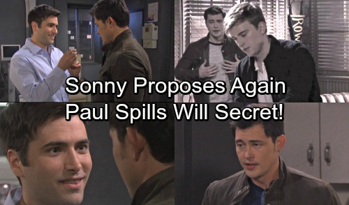 Days of Our Lives Spoilers: Sonny Proposes Marriage Again - Paul Spills Will Horton Secret