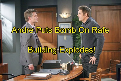 'Days of Our Lives' Spoilers: Andre Straps Bomb to Rafe, Locks Him in Basement – Building Explodes as Hope Comes to Rescue