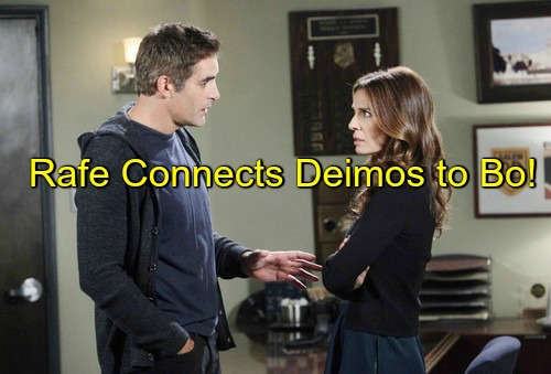 Days of Our Lives (DOOL) Spoilers: Rafe Uncovers Clue, Connects Deimos to Dr. Malcolm and Bo Kidnapping