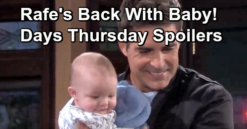 Days of Our Lives Spoilers: Thursday, April 4 – Ben Learns Jordan's Secret – Rafe's Back with Baby – JJ Interrogates Claire