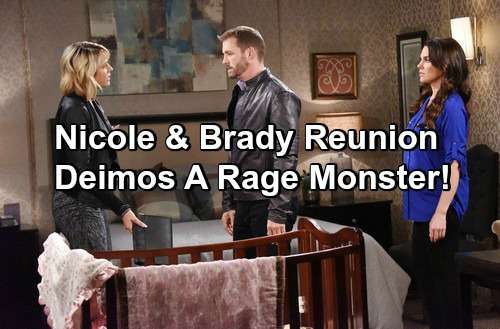 Days of Our Lives Spoilers: Brady and Nicole's Connection Deepens, Jealous Deimos Filled with Rage – 'Bricole' Reunion Coming