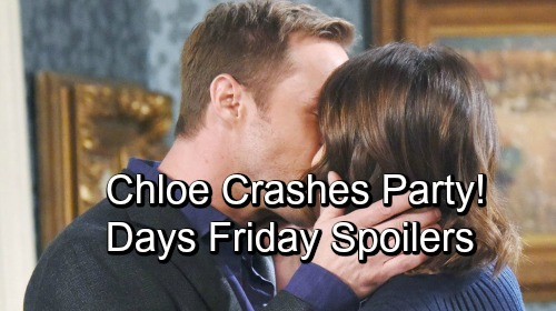 Days of Our Lives Spoilers: Friday, November 2 – DNA Results Are In – Chloe's a Party Crasher – Anxious Sami Leans on Belle